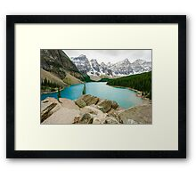Moraine Lake and the Valley of the Ten Peaks Framed Print
