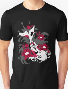 Koi Black and Red Unisex T-Shirt