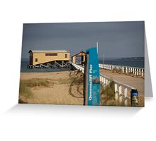 seascapes #167, jetty pier Greeting Card