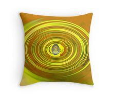 golden budda Throw Pillow