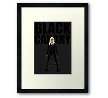 Black Canary Minimalist - (Arrow CW) Framed Print