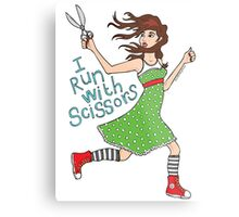 I Run With Scissors Metal Print