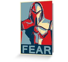 Vote for Cylon Greeting Card