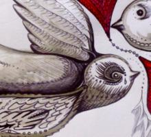 tattoo birds of love art Sticker