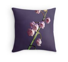 Pink Lily of the Valley Throw Pillow