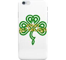 Erin Go Bragh - knotwork shamrock - green iPhone Case/Skin