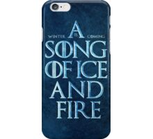 A Song Of Ice And Fire - Winter Is Coming iPhone Case/Skin