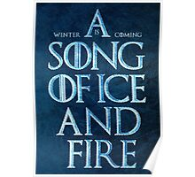 A Song Of Ice And Fire - Winter Is Coming Poster