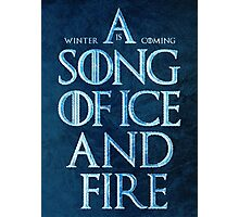A Song Of Ice And Fire - Winter Is Coming Photographic Print