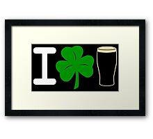 I Rock Guinness - dark Framed Print