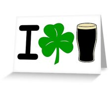 I Rock Guinness - light Greeting Card