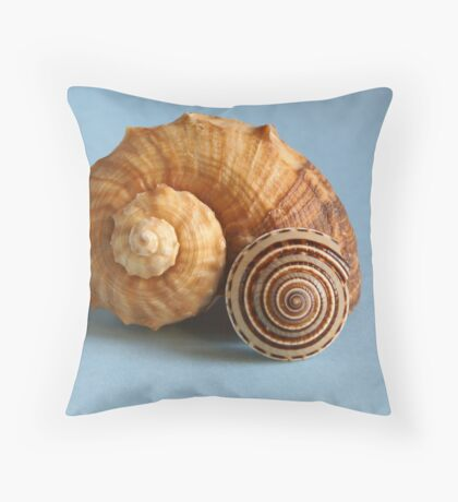 A shell and a snail Throw Pillow