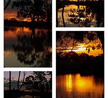 Mirrored Sunset Collage by Clive