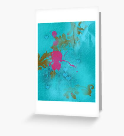 Pink elf in love Greeting Card