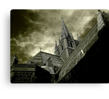 St Mary of the Angels - Standing Against Satan #1 Canvas Print