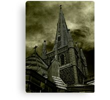 St Mary of the Angels - Standing Against Satan #2 Canvas Print