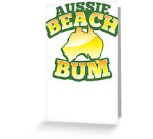 Aussie Beach Bum cute Australian design with map of Australia Greeting Card