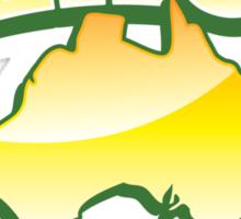 Aussie Beach Bum cute Australian design with map of Australia Sticker
