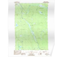 Maine USGS Historical Map Griswold 105179 1986 24000 Poster