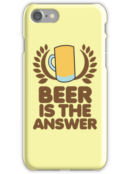 Beer is the ANSWER! with a wreath and BEER JUG by jazzydevil