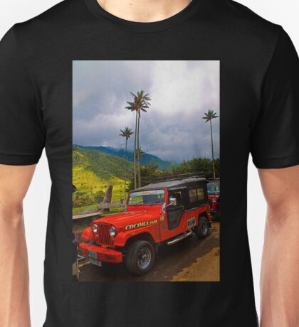 Columbia. Cocora Valley. Old Jeep. Unisex T-Shirt