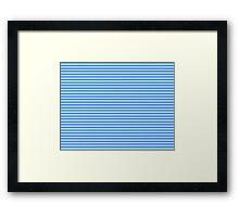 Dazzling Aqua Periwinkle Diamond Pattern Framed Print