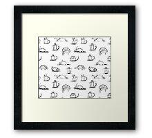 CATS | PATTERN  Framed Print