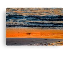 Abstract Water Sunset Canvas Print