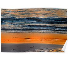 Abstract Water Sunset Poster