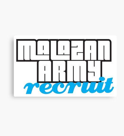 Army recruit Canvas Print