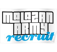 Army recruit Poster