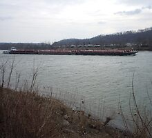 Barge traffic on the Ohio by James Gibbs