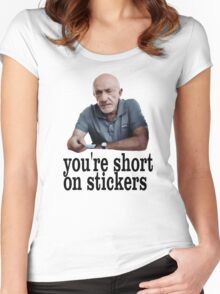 You're short on stickers Women's Fitted Scoop T-Shirt