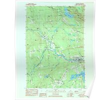 Maine USGS Historical Map Guilford 806743 1984 24000 Poster