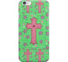 Springtime Floral Cross, Easter Cross iPhone Case/Skin