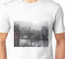 Wintry State House Window Unisex T-Shirt