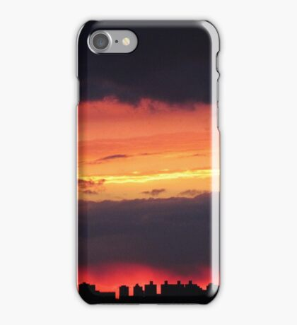 Winter Sunset over New York City  iPhone Case/Skin