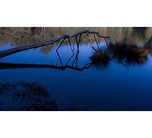 Blue Mirror Photographic Print