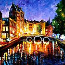 Thoughtful Amsterdam — Buy Now Link - www.etsy.com/listing/222315643 by Leonid  Afremov