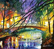 Enigmatic Bridge — Buy Now Link - www.etsy.com/listing/222207164 by Leonid  Afremov
