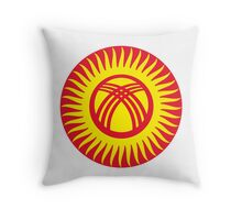 Roundel of Kyrgyzstan Air Force Throw Pillow
