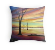 Outback Lake Sunset  Throw Pillow