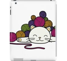 cat and wool 2 iPad Case/Skin