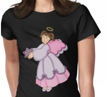 Snowflake Angel Womens Fitted T-Shirt
