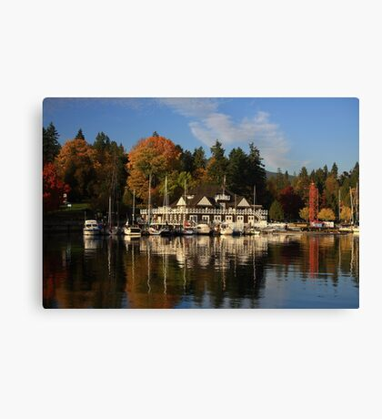 Stanley Park In Autumn Canvas Print