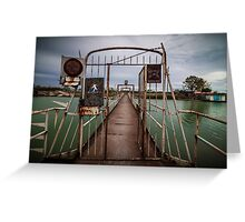 Old metal footbridge Greeting Card