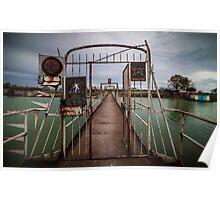 Old metal footbridge Poster