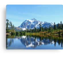 Fall Mountain Reflection  Canvas Print