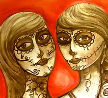 day of the dead sisters  by melaniedann