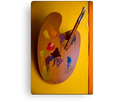 Paint and Brush Canvas Print